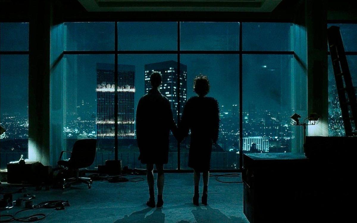 The narrator (Edward Norton) and Marla (Helena Bonham Carter), Fight Club (1999)