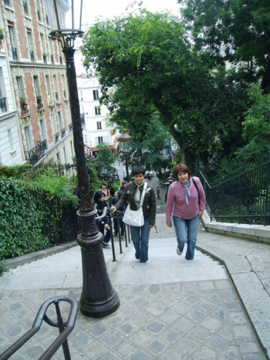 Walking the stairs to Montmartre