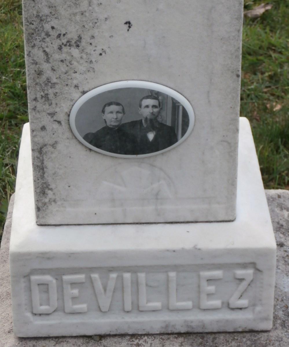 Devillez Grave Stone in Leopold, Indiana.