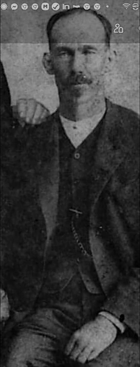 Photo of Thomas Jefferson Garrison (shared by his descendant, Michele Baker)