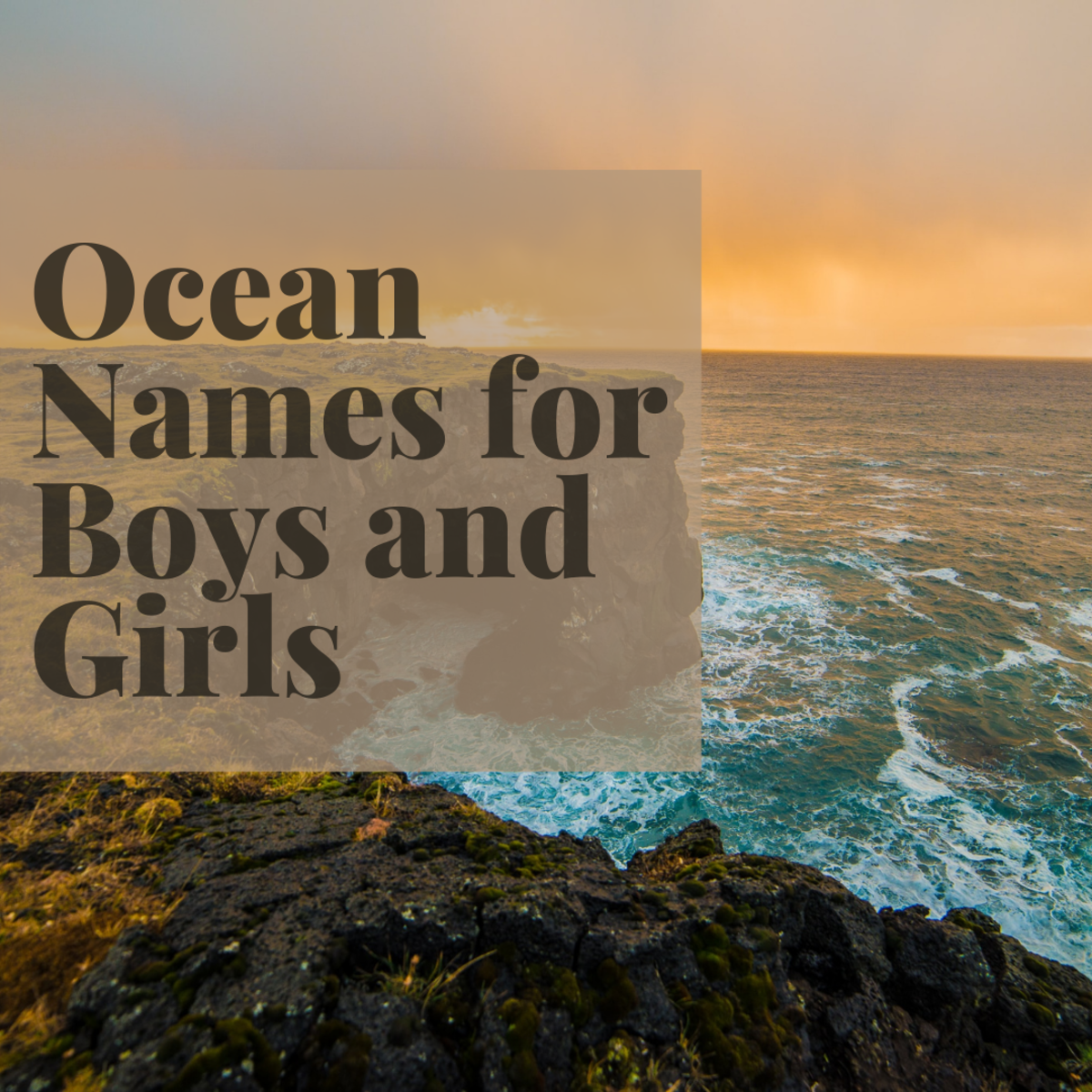 The ocean is an endless source of inspiration for new baby names.