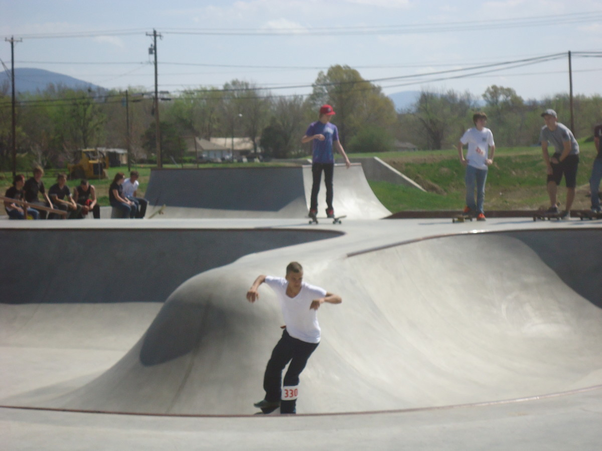 Oklahoma Skate Parks: Skater at Poteau's Off Broadway Skatepark