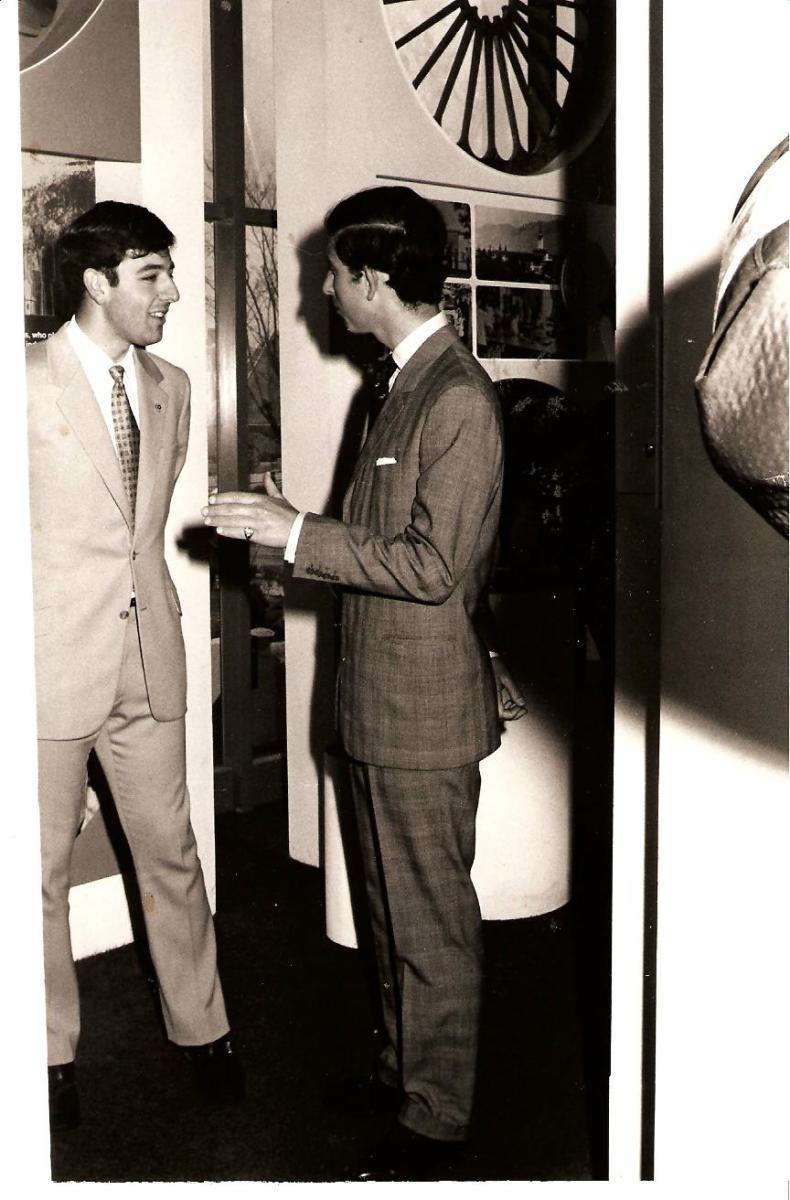 Myself with Prince Charles 1970