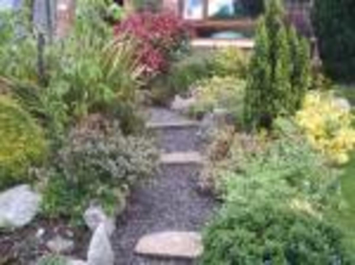The path should be soft and meander through the garden