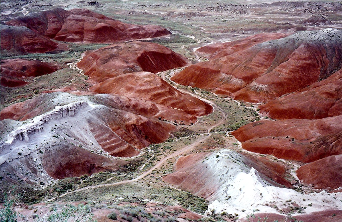A portion of The Painted Desert