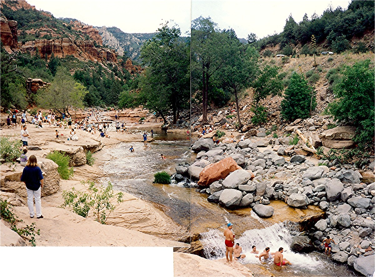 Slide Rock State Park in Oak Creek Canyon...2 of my photos pieced together