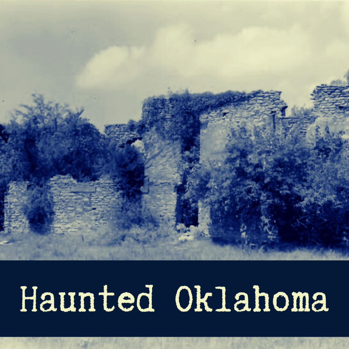 Explore some of Oklahoma's most haunted places, including the Fort Washita barracks pictured above.
