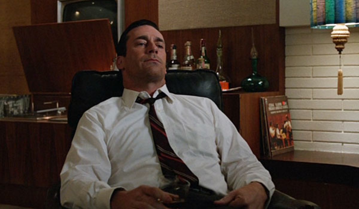 Don Draper listening to the Beatles