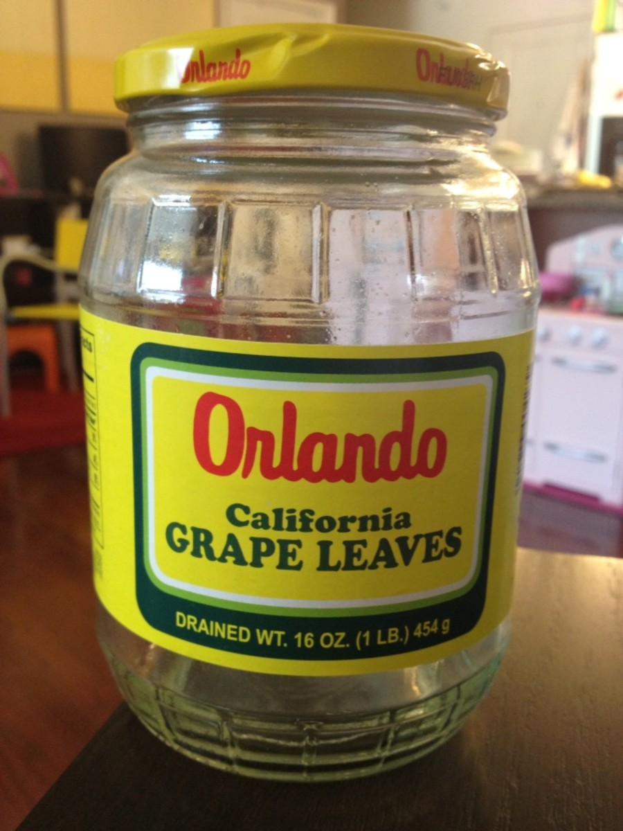 A jar of grape leaves in brine can be purchased at many grocery stores.
