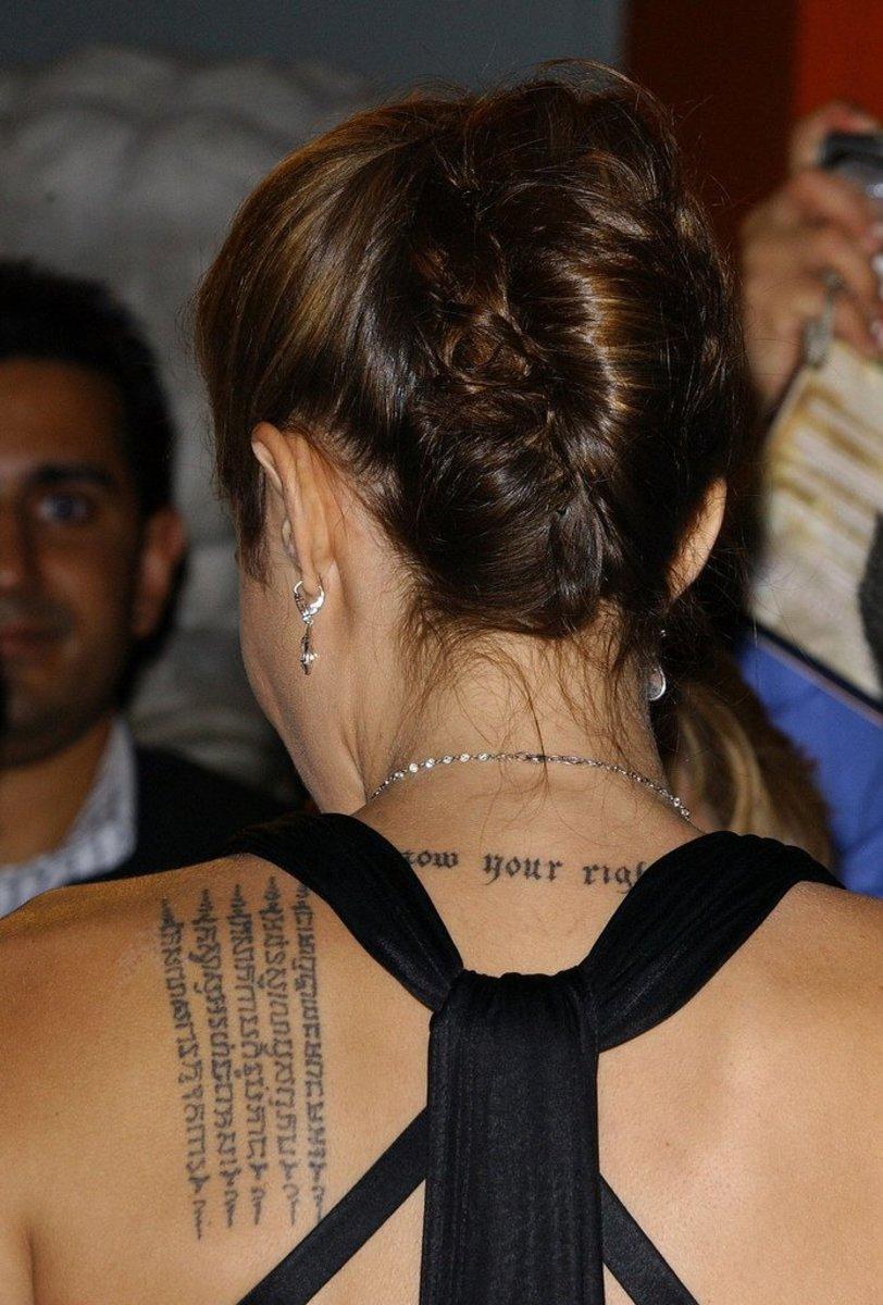 Angelina Jolie's Tattoos   TatRing