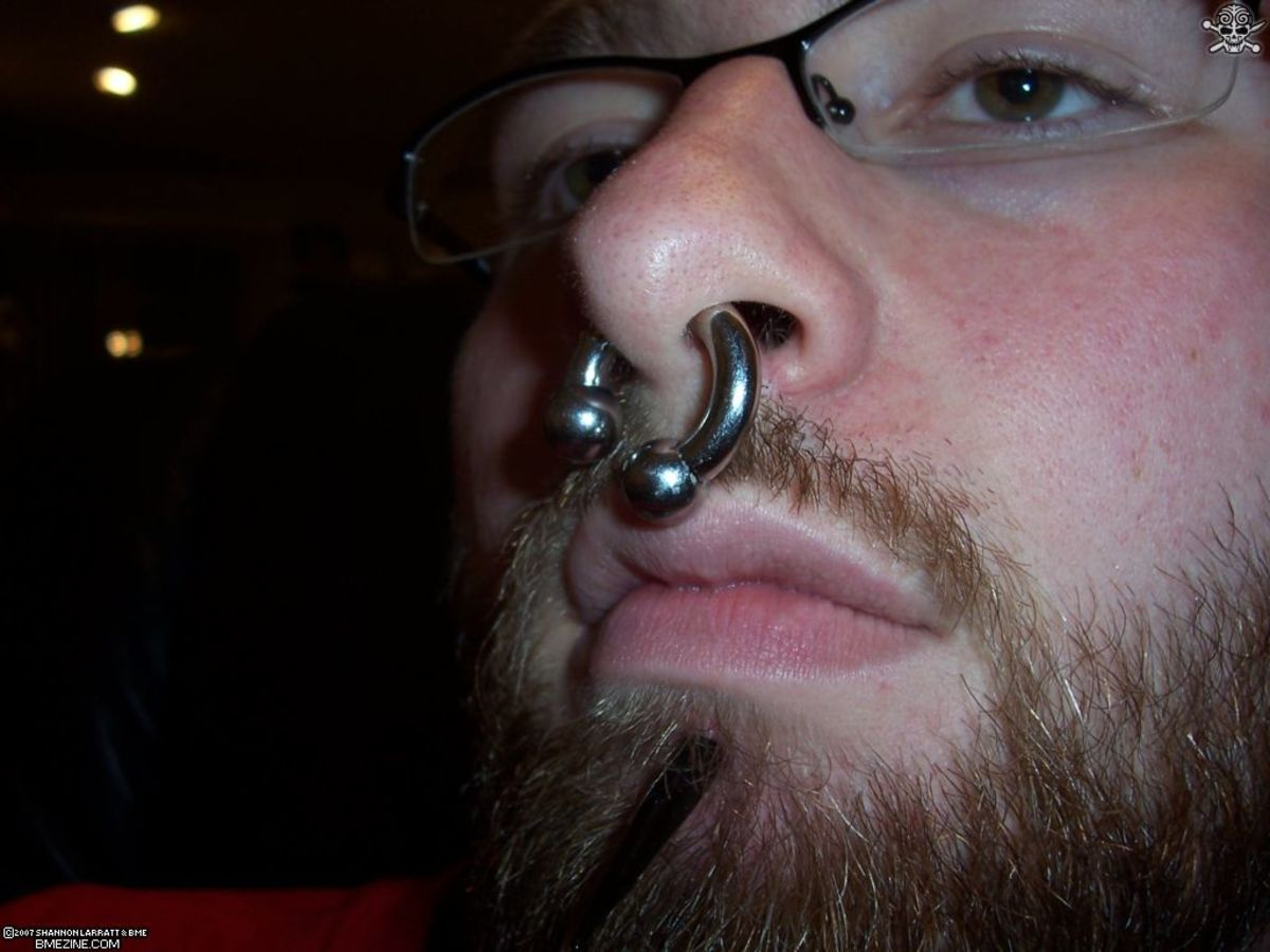 how to take care of a septum nose piercing