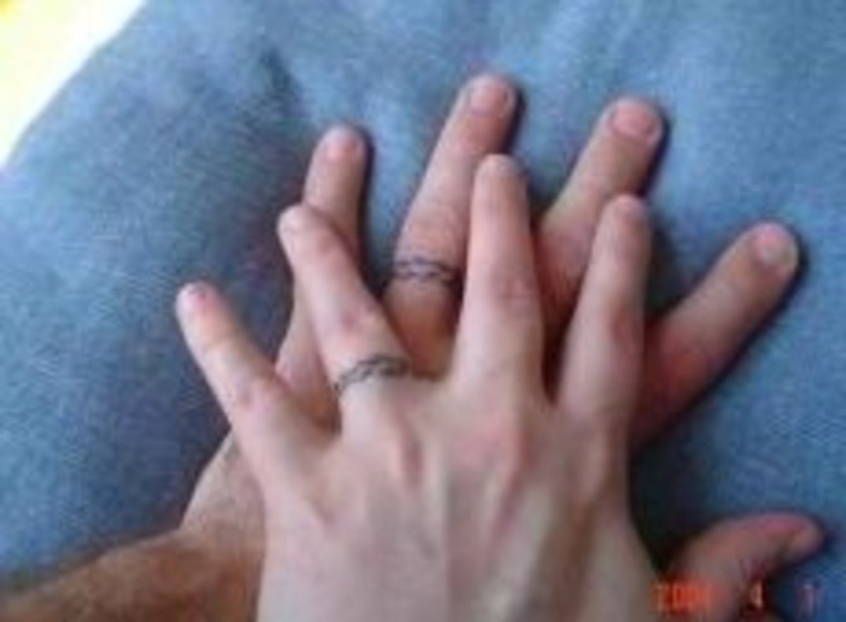 Ball and chain wedding ring tattoos
