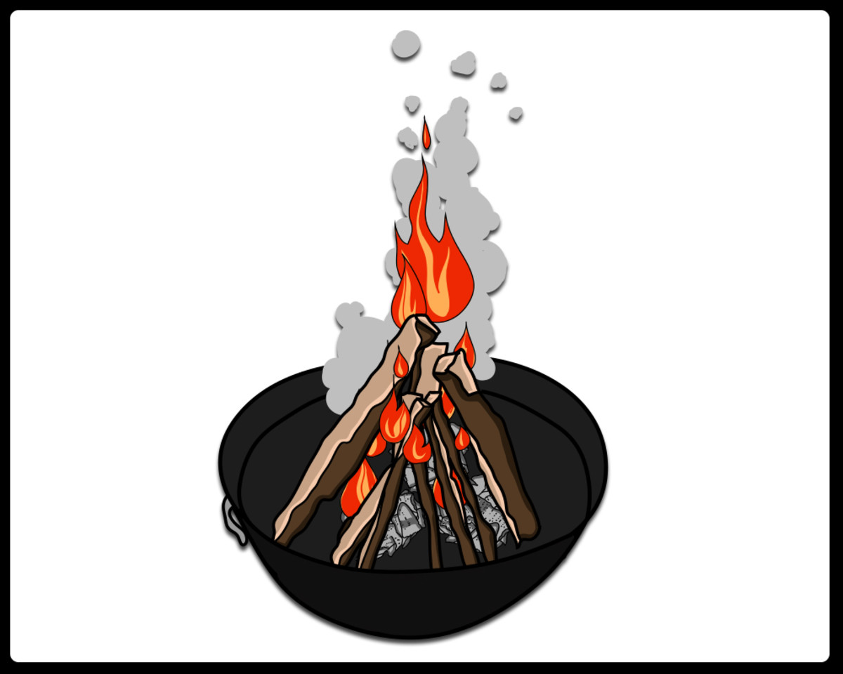 How to Start a Wood Fire with Vegetable Oil, Paper, and Matches