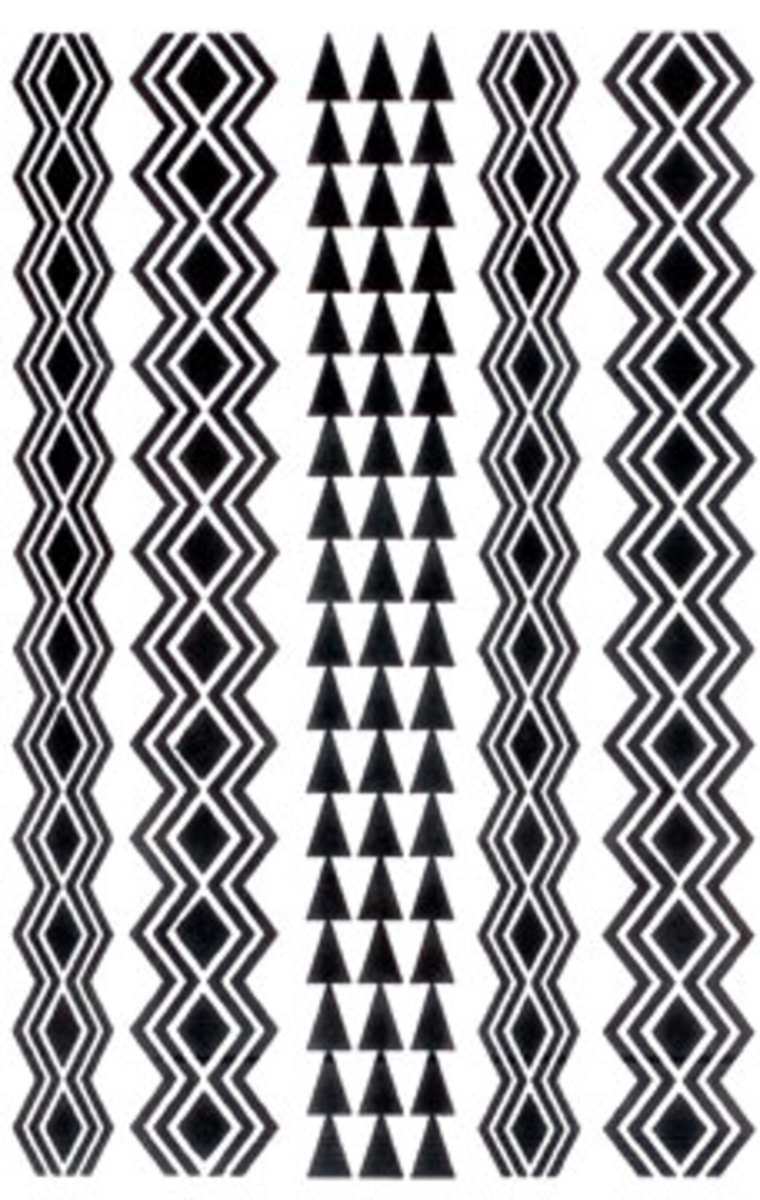 Hawaiian tribal tattoo designs.
