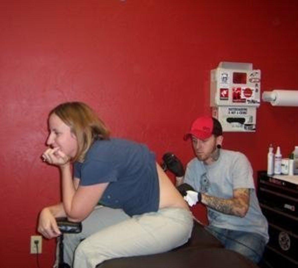 Getting tattoo #4