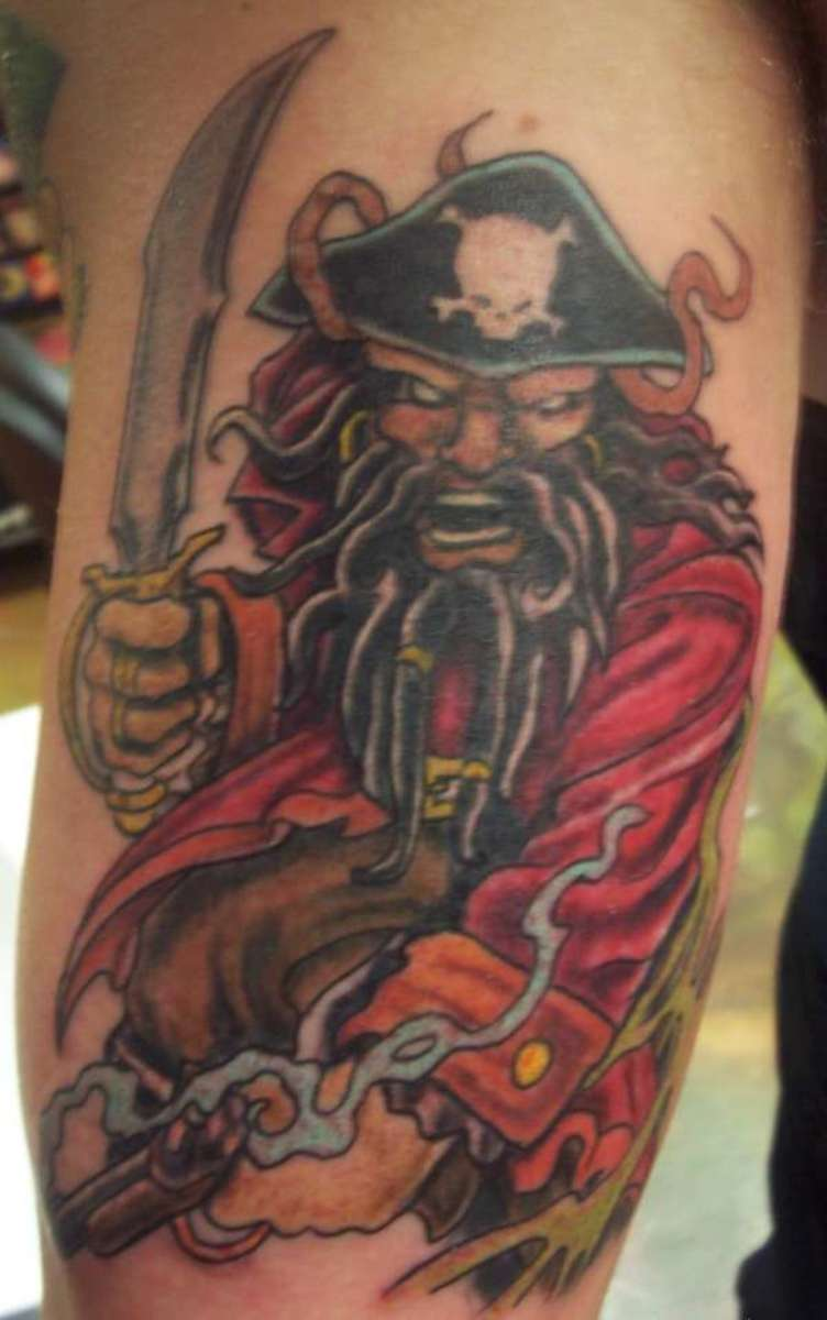 Tattoo of a Menacing Pirate