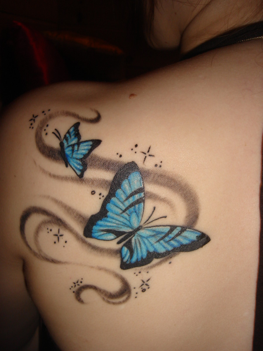 d2519b95f14c9 Butterfly Tattoo Meanings and Design Ideas | TatRing