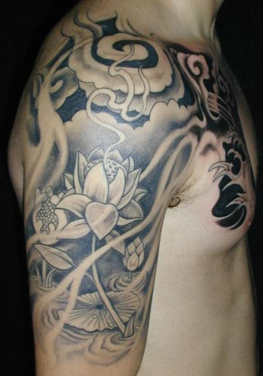 idei-dlya-tatuirovok - Готические Татуировки Цветок -  - фото