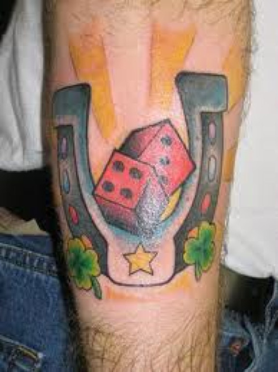 Horseshoe and Dice Tattoo
