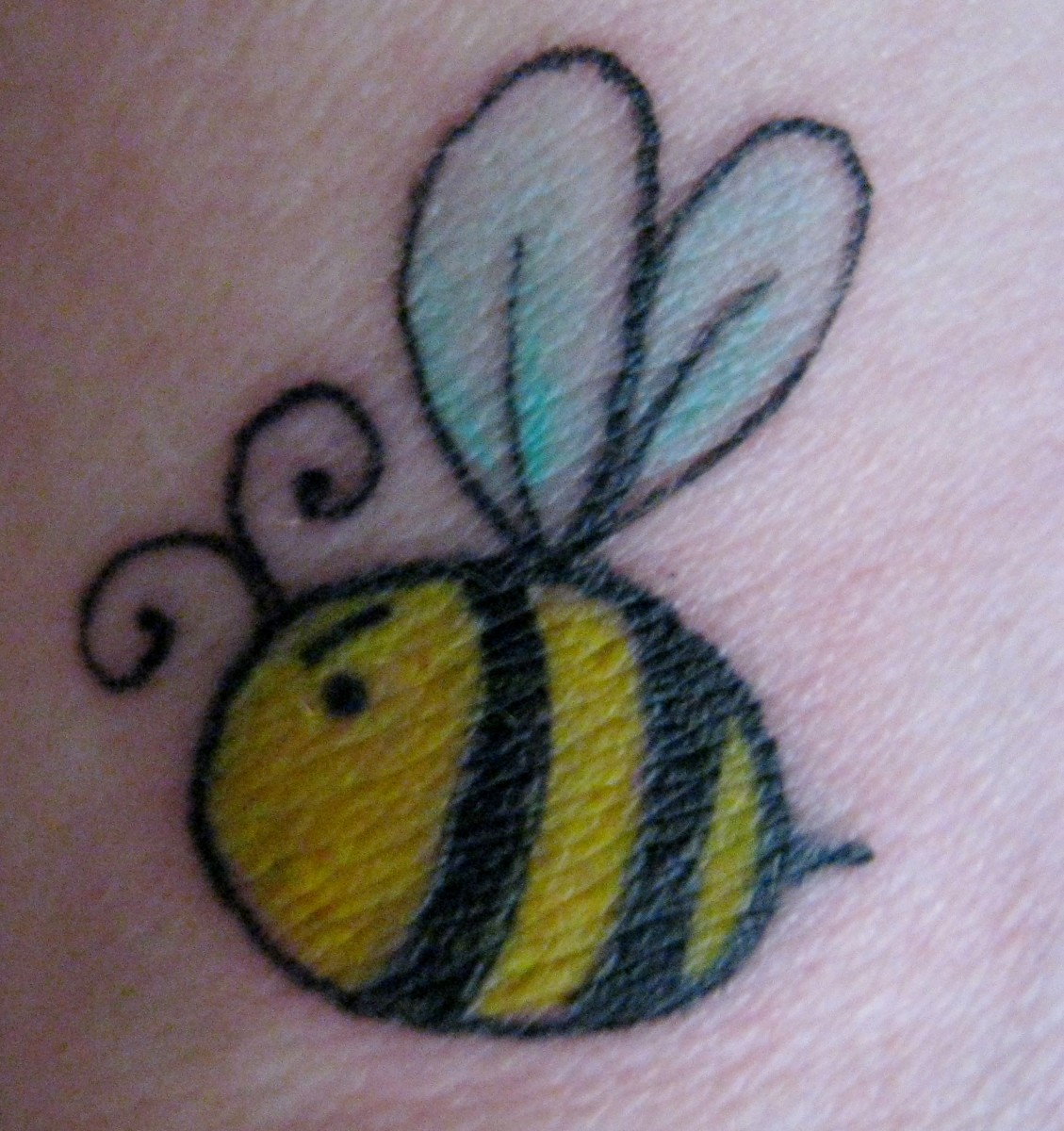 There is no hiding Angry Bee, she's on my wrist!
