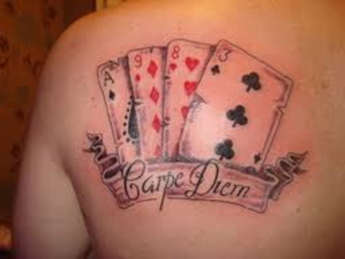 playing card tattoo designs meanings pictures and ideas tatring. Black Bedroom Furniture Sets. Home Design Ideas