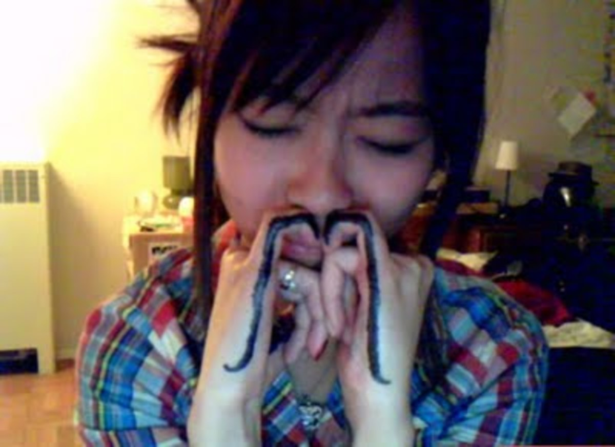 Invoke a different type of mustache altogether by getting other fingers involved.
