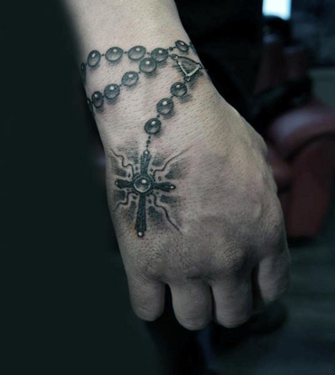 3a855ac94 Rosary Bead Tattoo Ideas, Designs, and Meanings | TatRing