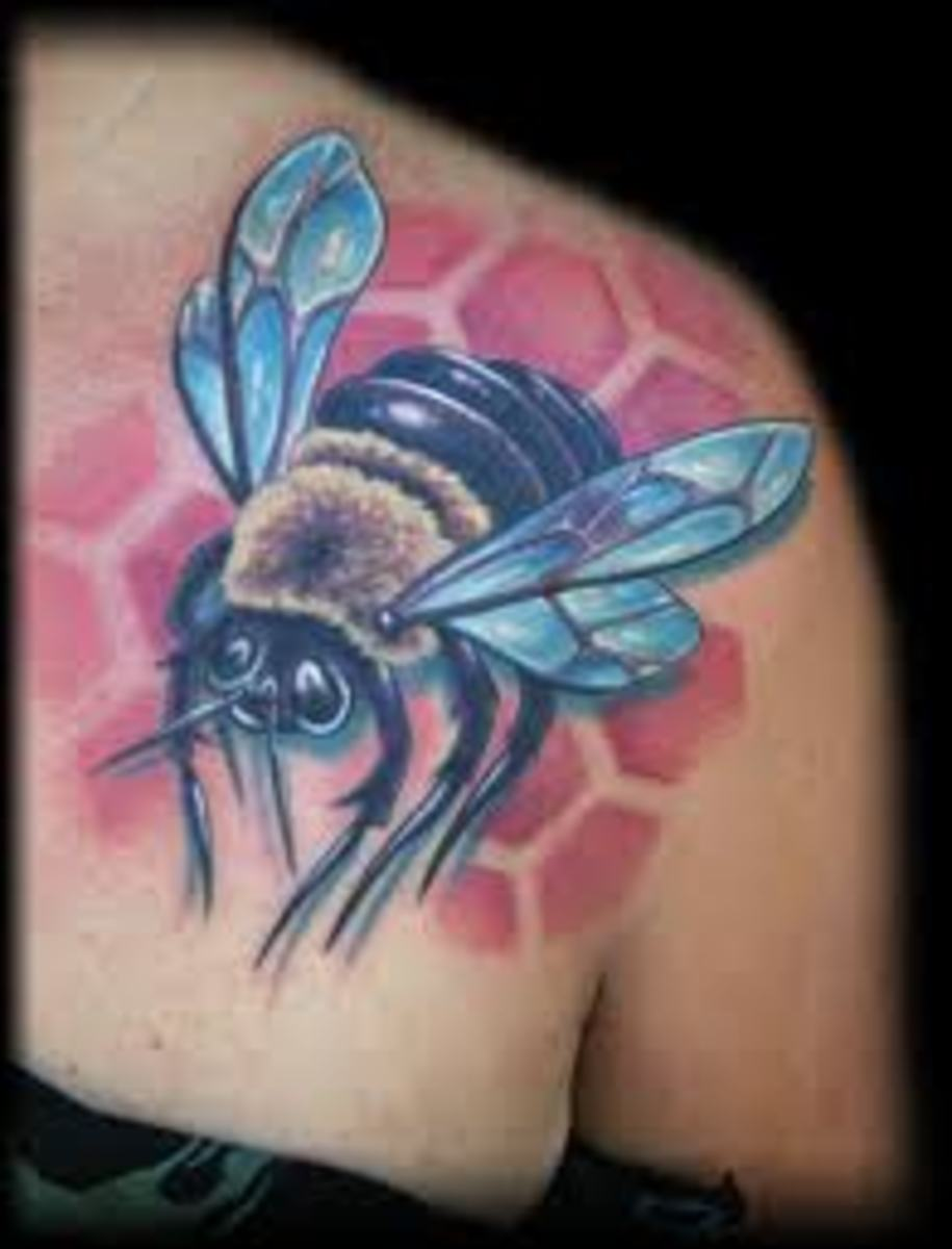 idei-dlya-tatuirovok - Пчела значение татуировки, эскизы и идеи -  - фото