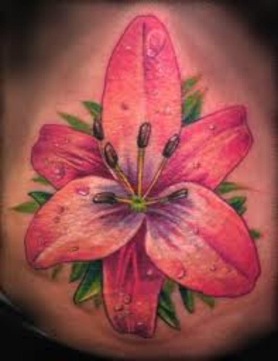 idei-dlya-tatuirovok - Лили цветочные татуировки: значение, фото, эскизы, идеи -  - фото