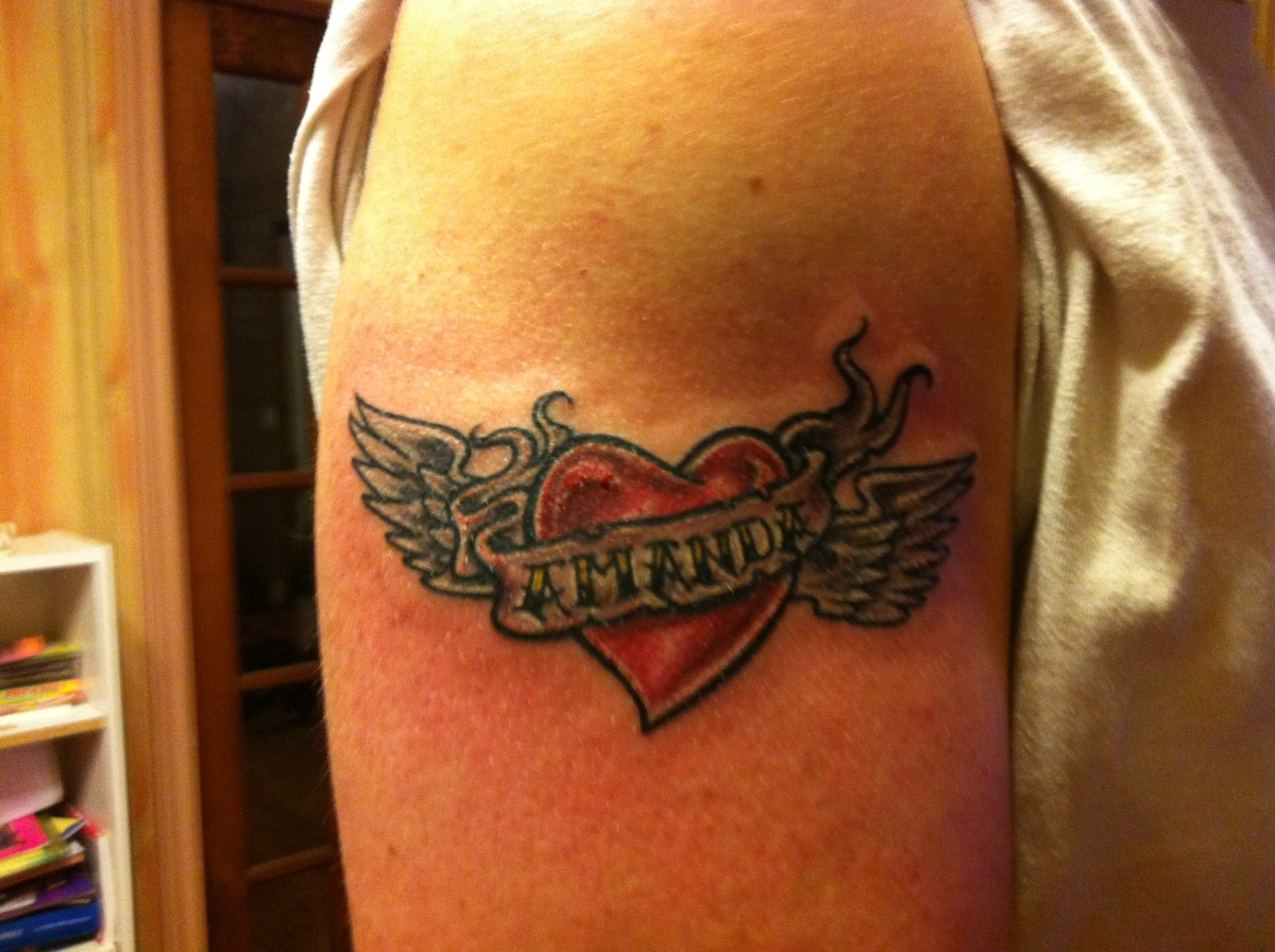My friend's first tattoo was a tribute to his daughter. Don't go any bigger then this at a tattoo party.