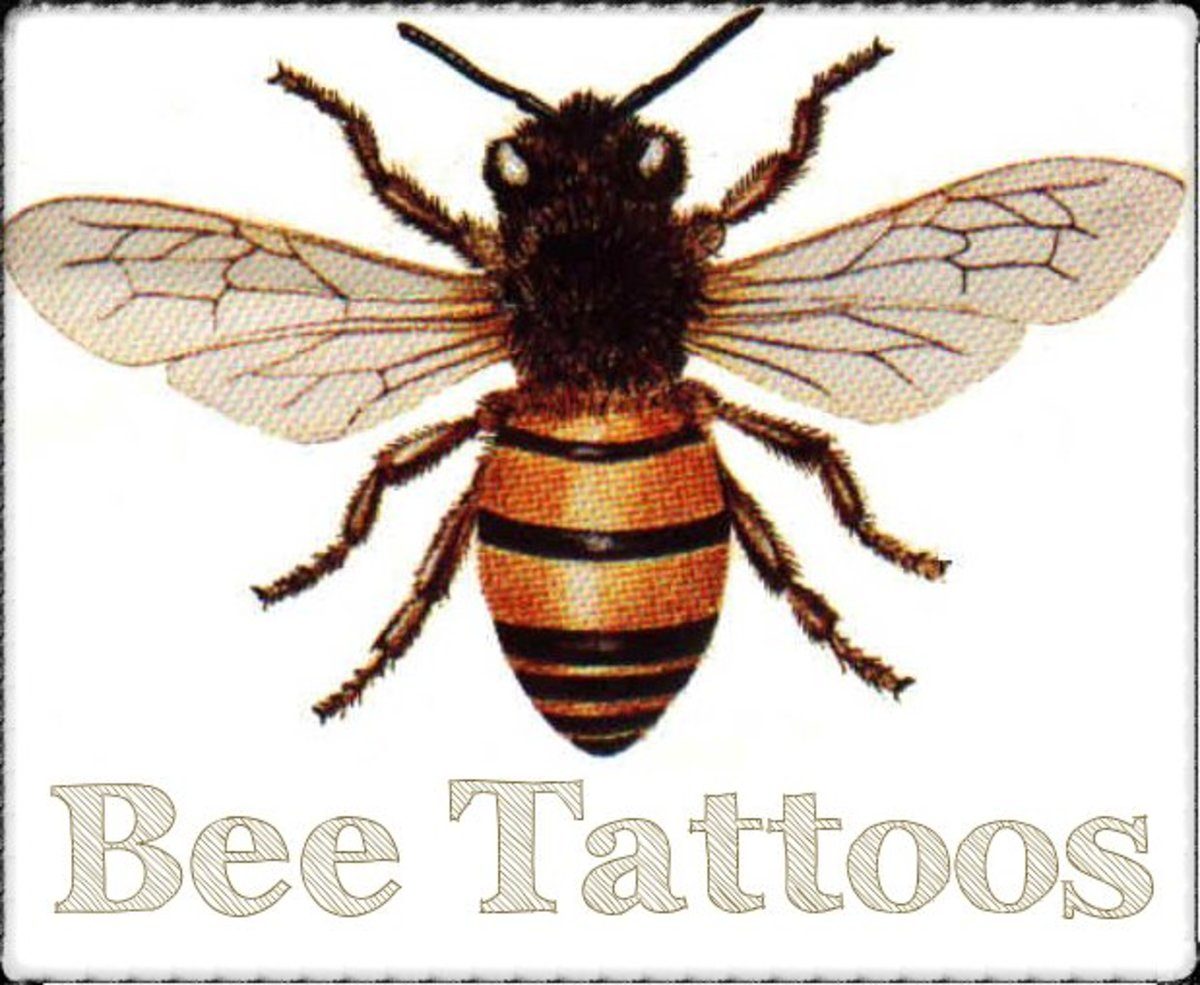 Get some ideas for a bee-themed tattoo with this design gallery.