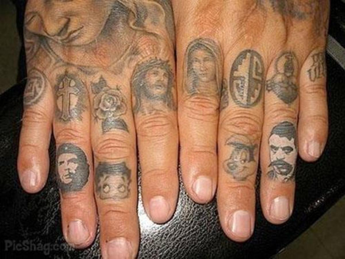 Serious finger ink!