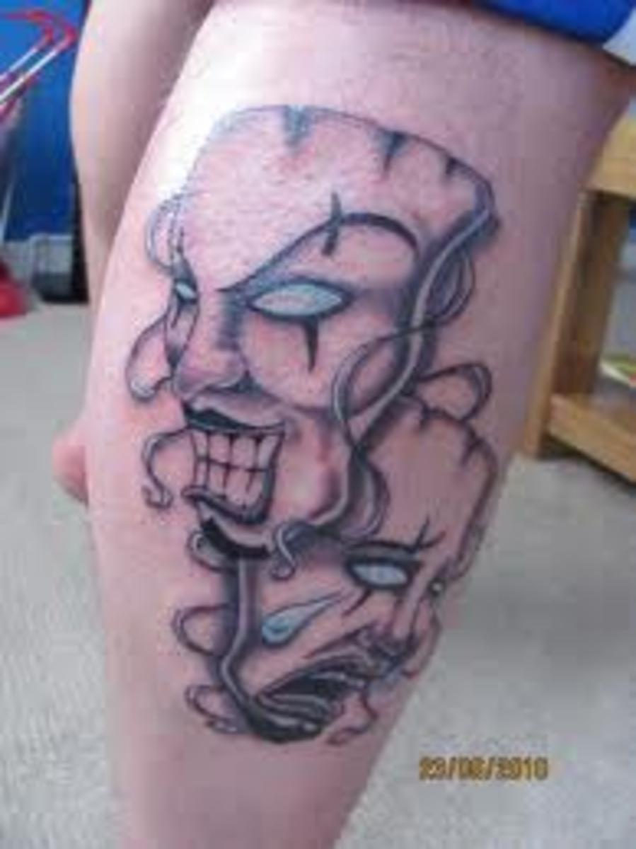 Joker Mask Tattoo Designs