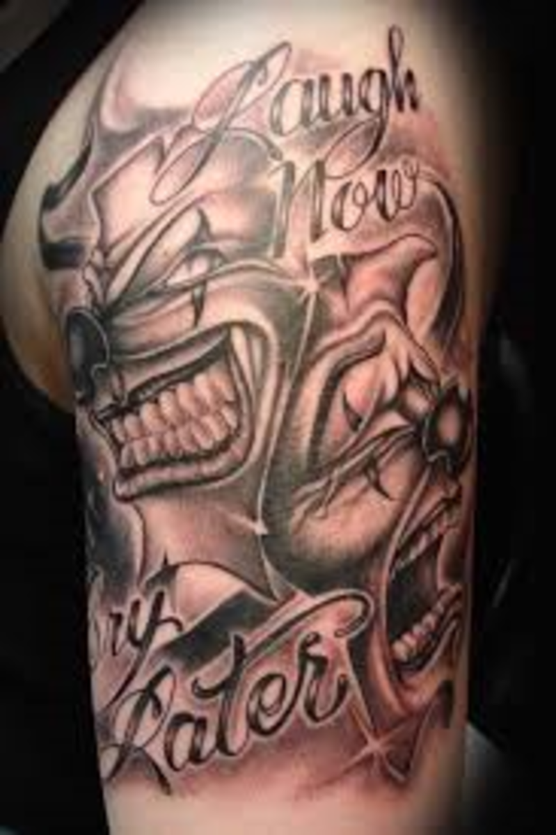 Mask Tattoo Designs And Mask Tattoo Meanings-Mask Tattoo Ideas And Mask Tattoo Pictures