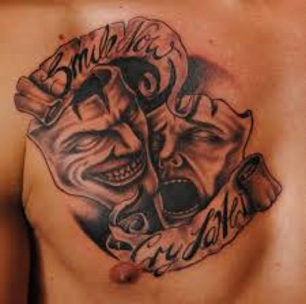 mask tattoo designs and mask tattoo meanings mask tattoo ideas and mask tattoo pictures hubpages. Black Bedroom Furniture Sets. Home Design Ideas