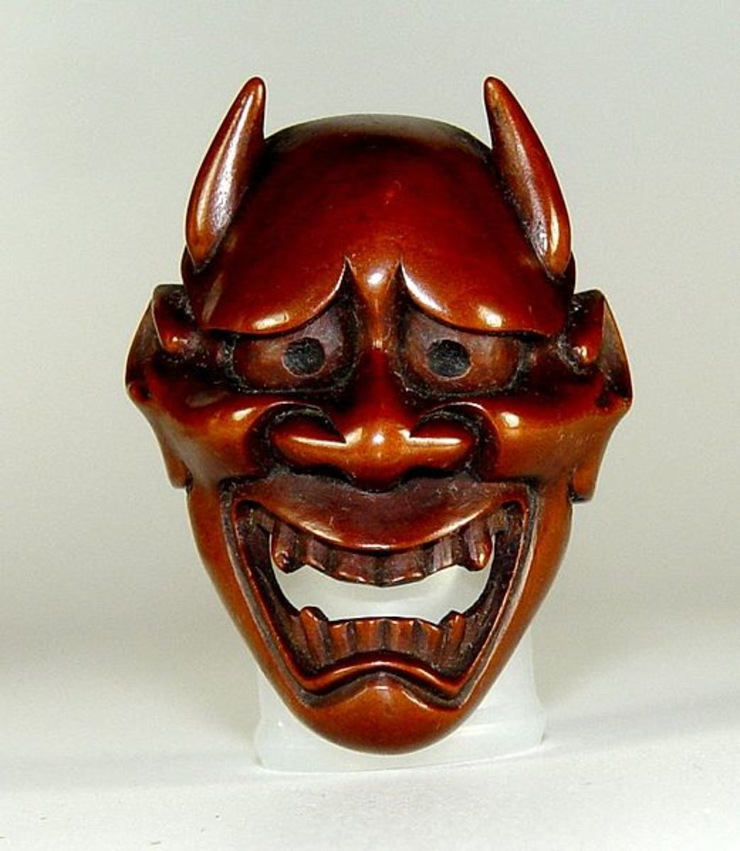 an 18th century hannya mask