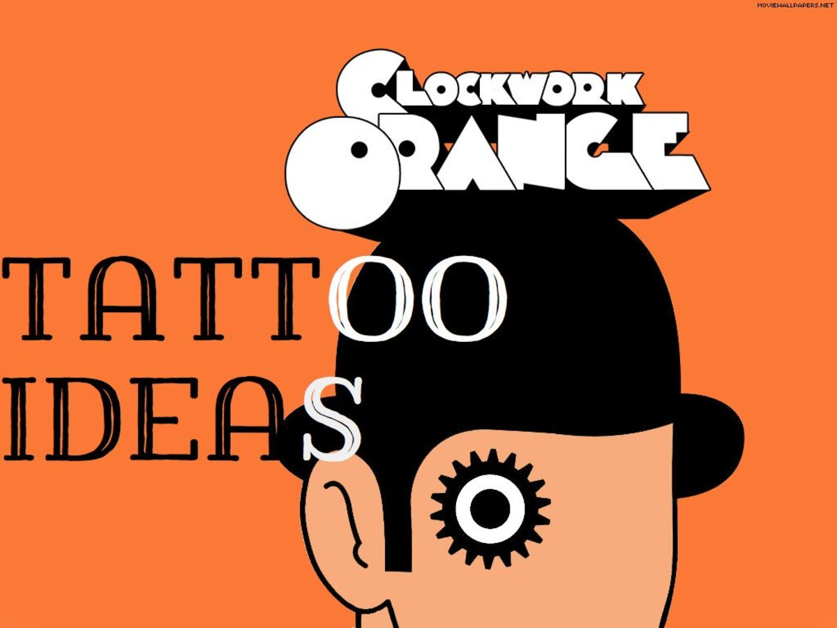 "Examples of ""A Clockwork Orange"" Tattoos"