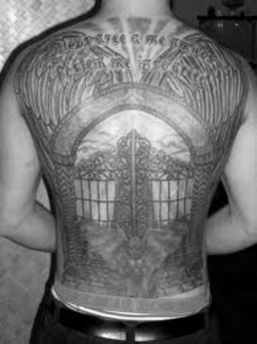 gates of heaven tattoos heaven tattoos and meanings gates of heaven tattoo pictures hubpages. Black Bedroom Furniture Sets. Home Design Ideas