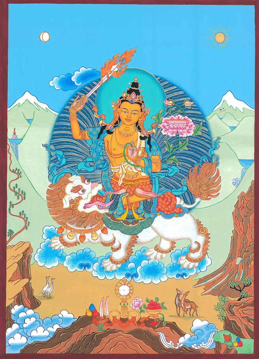 Manjushri Thangka is a painting by Ies Walker