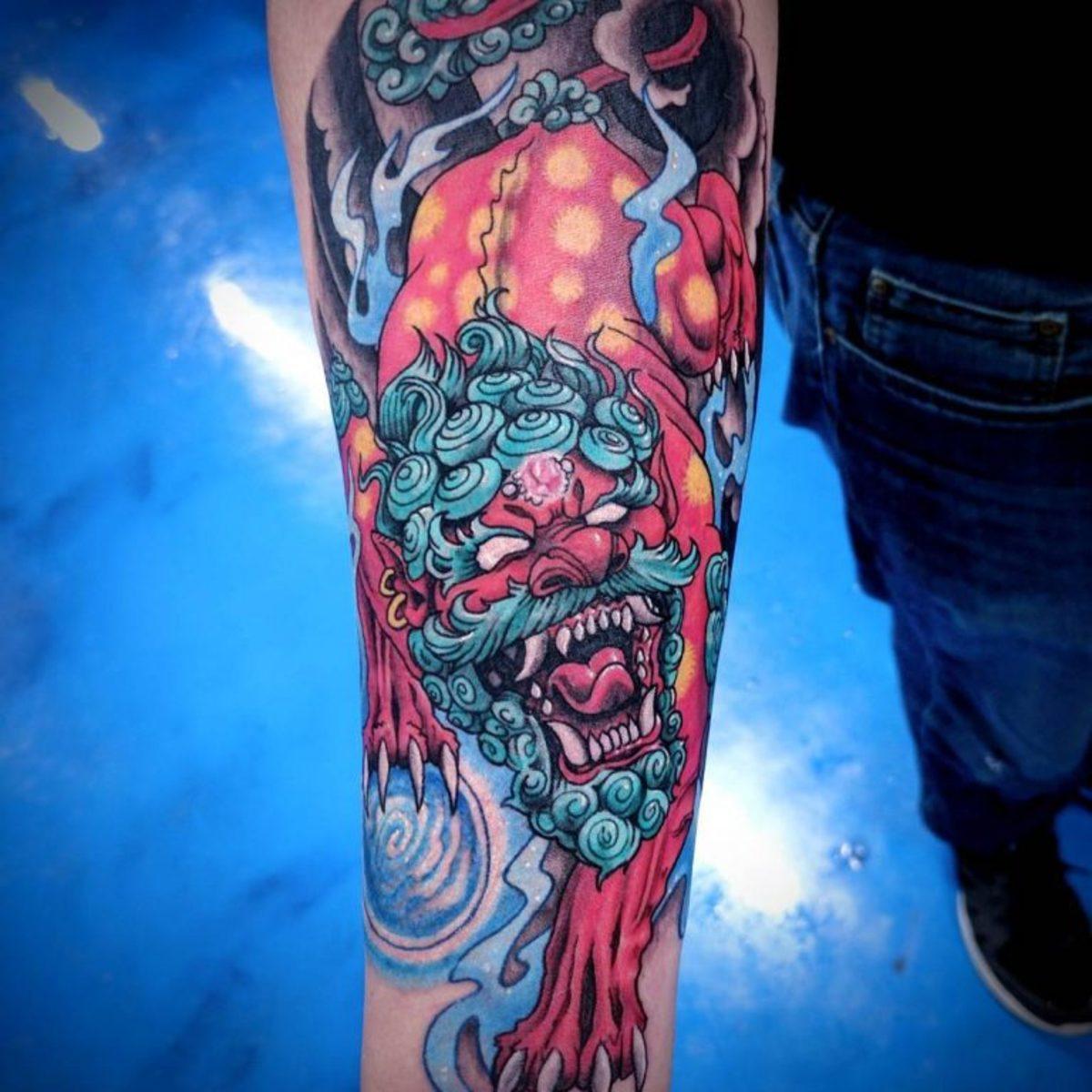 Wonderbaarlijk The Guardian Lions: Foo Dog Tattoo Meanings, History, Ideas ZT-73
