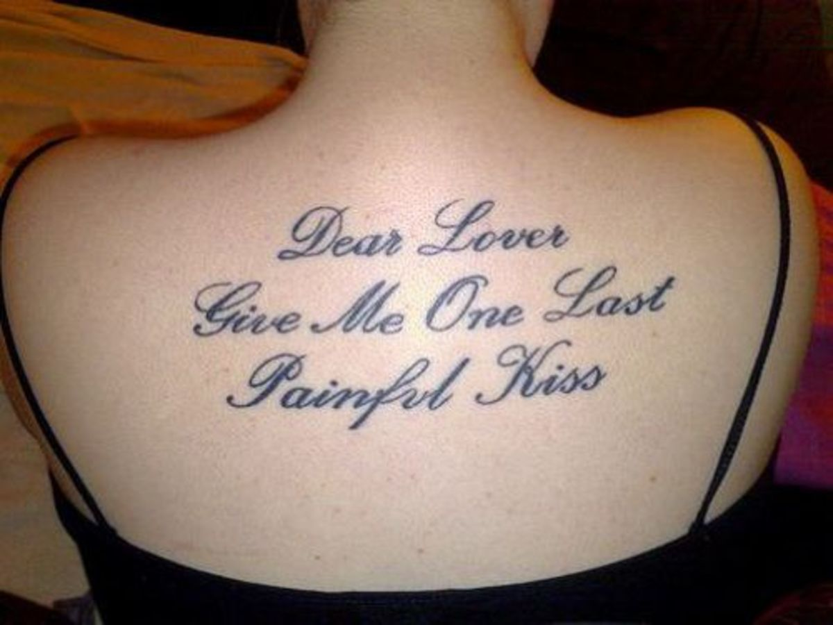 The Art Of Choosing The Perfect Font And Lettering For A New Tattoo Beauteous Good Tattoo Quotes