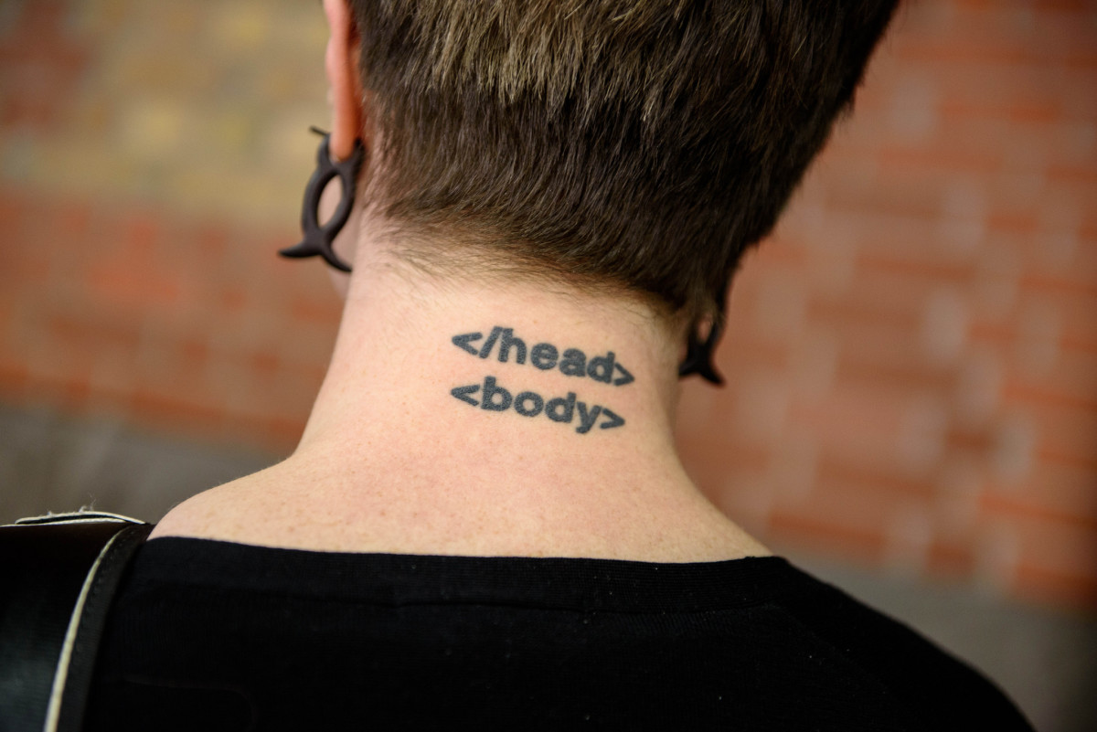 Clever HTML tattoo.