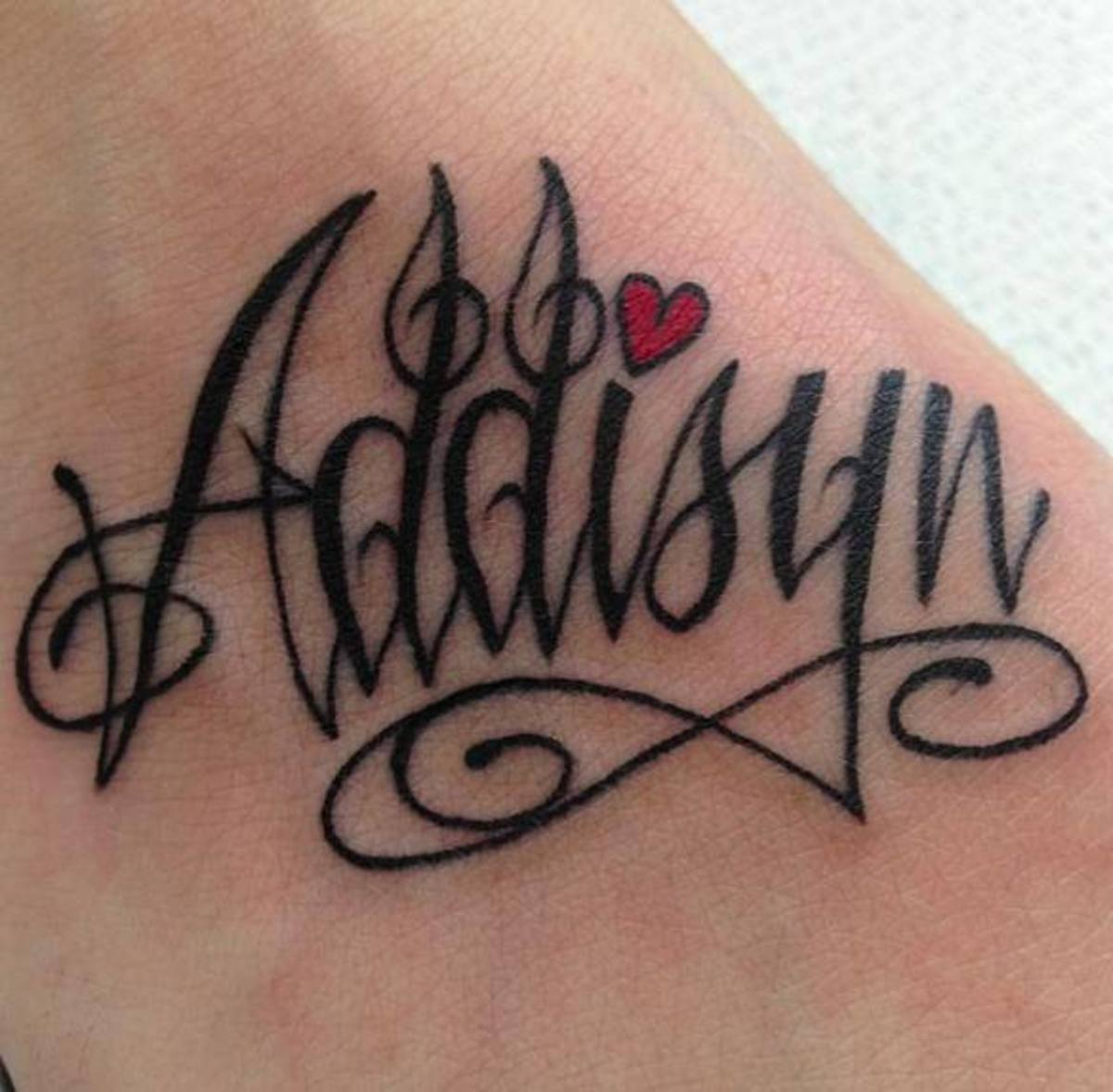 Musical adaptation of a script tattoo.