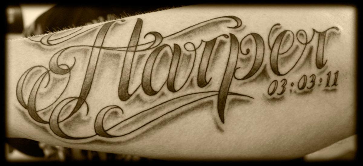 Memorial tattoo.
