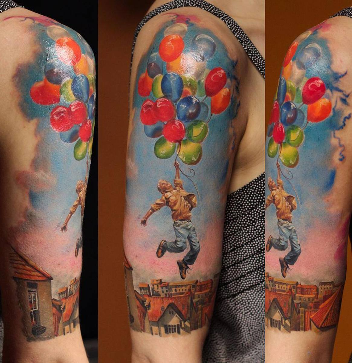 Arm tattoo balloons
