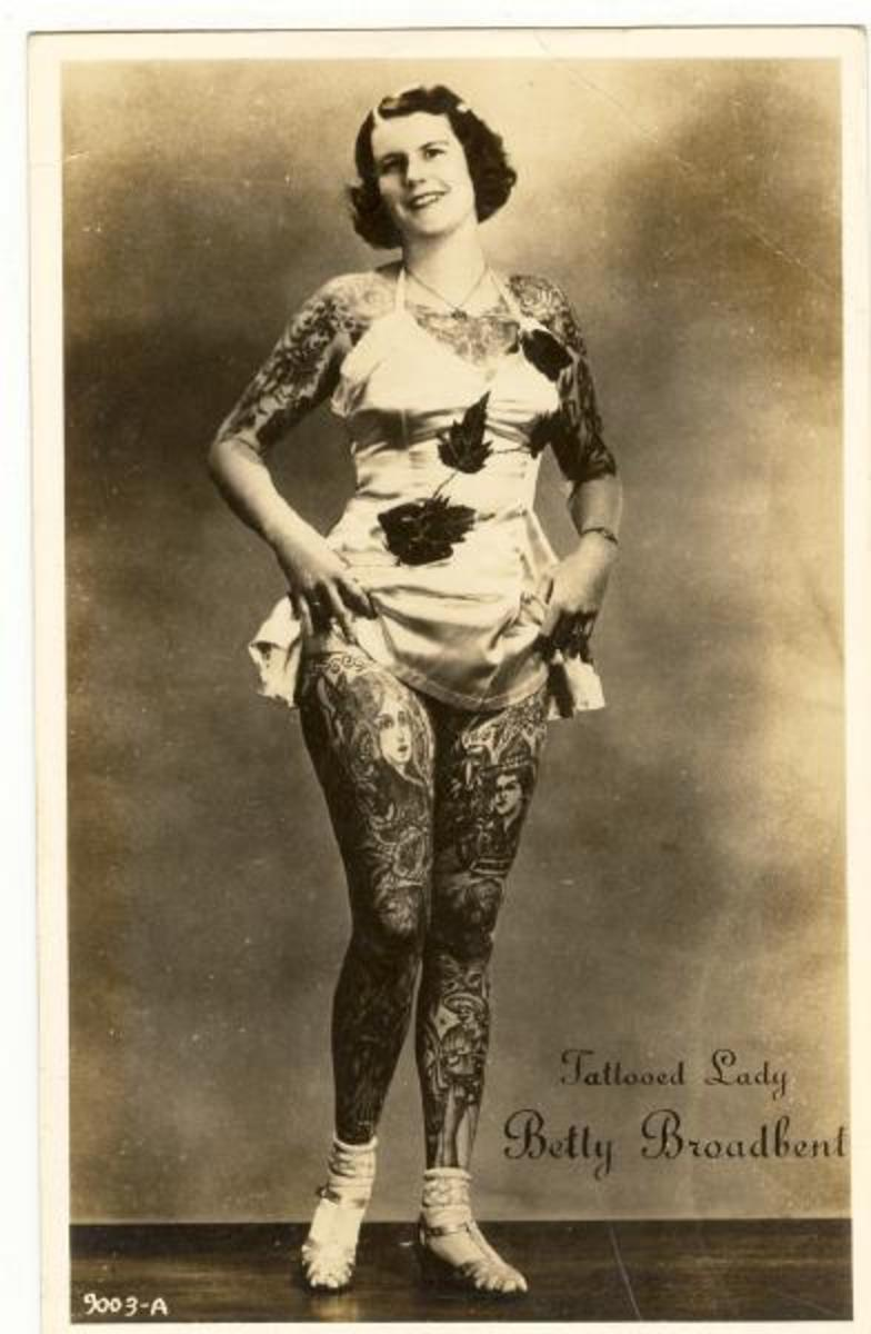 Tattooed women in history, Betty Broadbent
