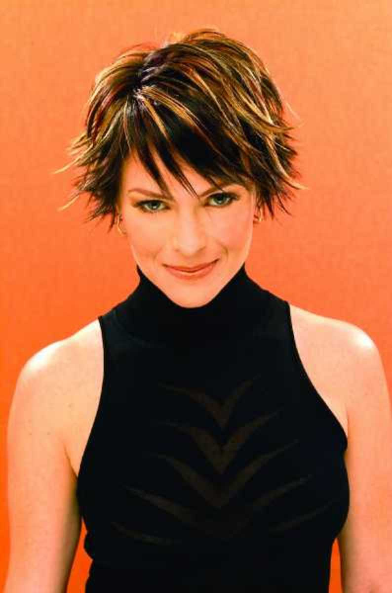 Picture Gallery of Short Razor Cut Hairstyles