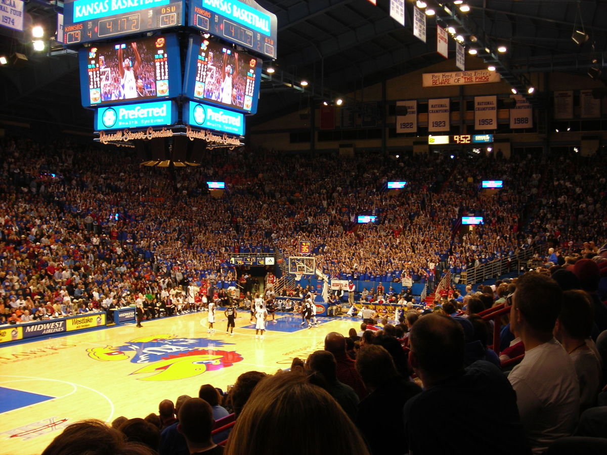 Inside of Allen Fieldhouse