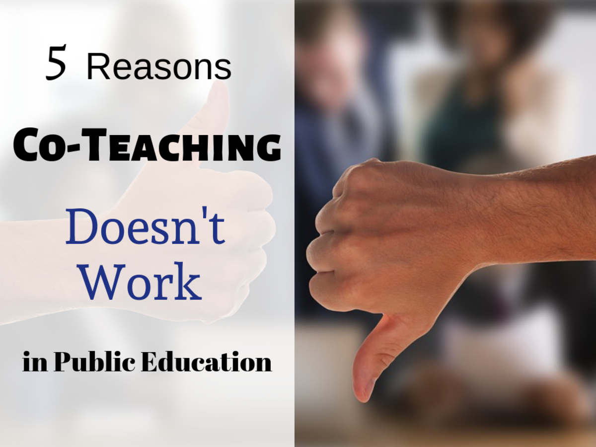 5 Good Reasons Co-Teaching Doesn't Work in Public Education