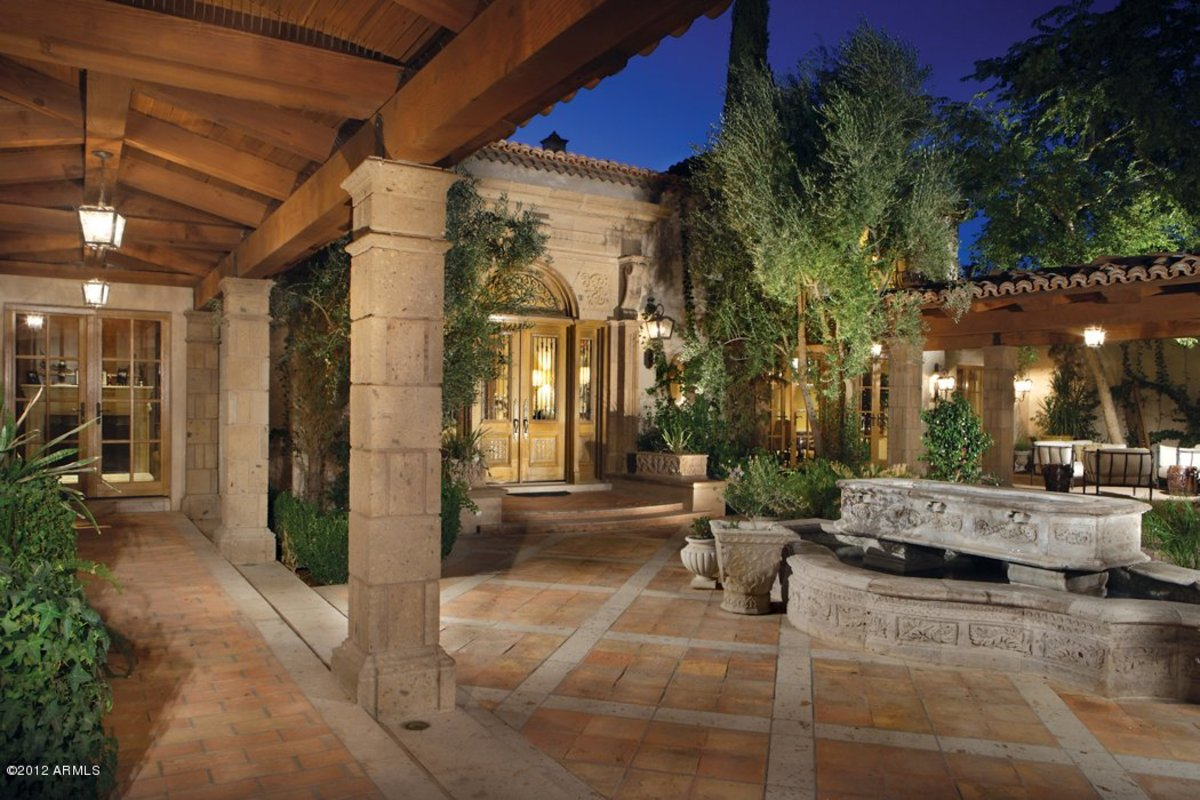 Mediterranean Patios, Pergolas, Stucco Terraces, Water Fountains, and More